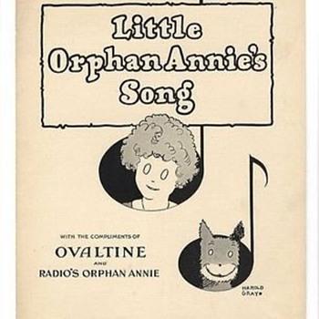 "RADIO THEME SONG, ""LITTLE ORPHAN ANNIE"" SHEET MUSIC. 1931 Sing it!"