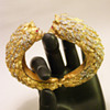 Vintage Kenneth Jay Lane Double Lion Rhinestone Bangle
