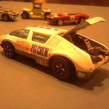 It took many years to find this Pit Crew Hot Wheel, but it was only $15   It was an all time great find...