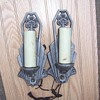 Halcolite #2308 Art Deco wall sconces