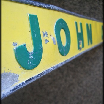 John Deere Signage - Metal - Yellow and Green  - Advertising