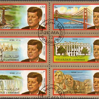 "1972 - Sharjah - ""J.F. Kennedy"" Postage Stamps - Stamps"