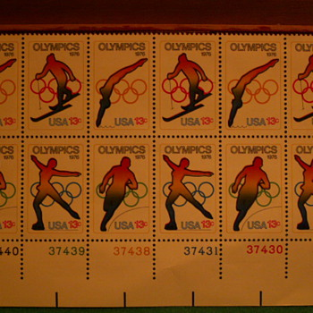 1976 Olympics 13¢ Stamps - Stamps