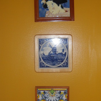 Various decorative tiles - Pottery