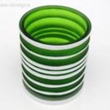 Gorgeously Green Satin Glass Vase - Art Glass