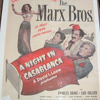 Marx Brothers Advertising  - Movies