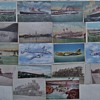 Group of transportation post cards