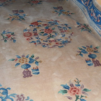 Vintage/Antique Hand Woven Flora Rug Persian? - Rugs and Textiles