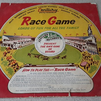 "Century Party Records ""RACE GAME"" 78 RPM - Records"