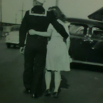 A Moment in time, WWII Sailor and his girl.... - Military and Wartime