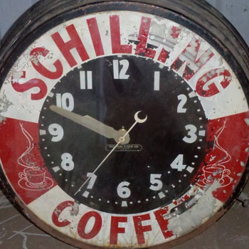 schilling coffee clock - Clocks