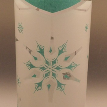 Anchor Hocking - Glasses/Tumblers - Atomic Snowflake - Teal/White - Glassware