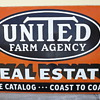 Vintage United Farm Agency Sign