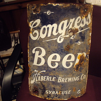 Curved Porcelain Beer Sign - Signs