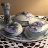 Limoges France Lilacs Dresser Set