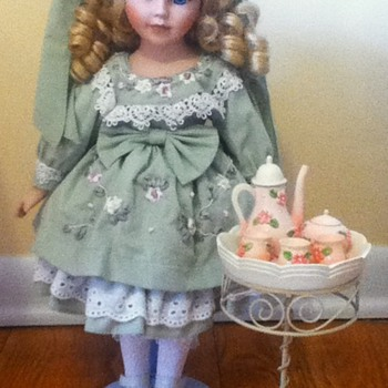 Tea Set Porcelain Doll - Dolls