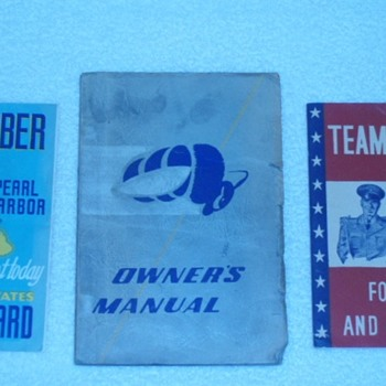 Vintage WW2 Era Coast Guard Seabee's Recruitment Manuals - Military and Wartime