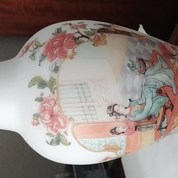 Antique Thin Asian Porcelain Vase - Asian