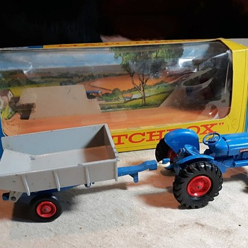 MMM Matchbox Monday K-11 Fordson Tractor and Farm Trailer 1968 Plus Find the Hidden Cat - Model Cars