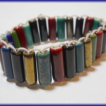 Bracelet - Pottery  Beads  - Costume Jewelry