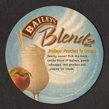 """Baileys Irish Cream"" - Bar Coaster - Breweriana"