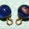 """Pair of Glass Ball Waistcoat Buttons - 7/16"""""""