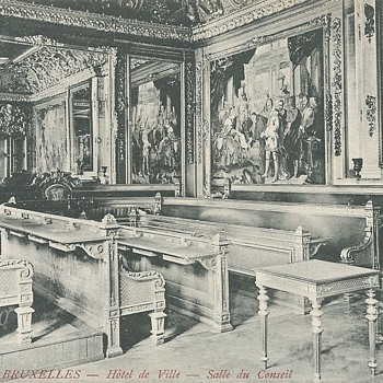 BRUXELLES – HÔTEL DE VILLE – SALLE DU CONSEIL. - Postcards