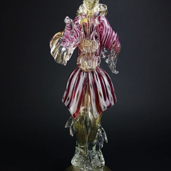 Murano Courtesan Gentleman Figurine