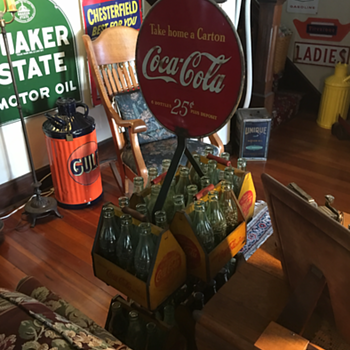 Coca-Cola Bottle Rack and Carriers  - Coca-Cola