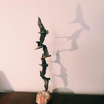 C. Jere 'Birds in Flight'  - Mid-Century Modern
