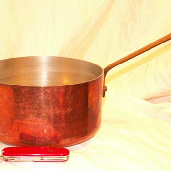 Mauviel Copper Sauce Pan 3.5 Quart W/ Bronze Handle ~ France - Kitchen