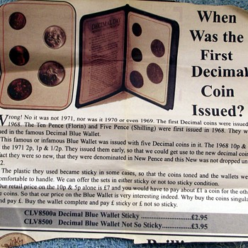 1968-britains 1st decimal coin set. - World Coins