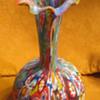 ??MURANO ITALIAN ART GLASS MILLEFIORI VASE??