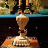 Akro Agate custard glass boudoir lamp 1930s