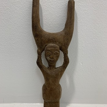 Carved Figure - Mystery  - Folk Art