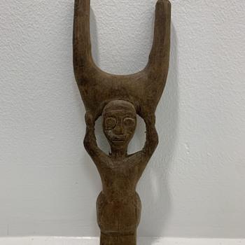 Carved Figure - Mystery  - Folk Art