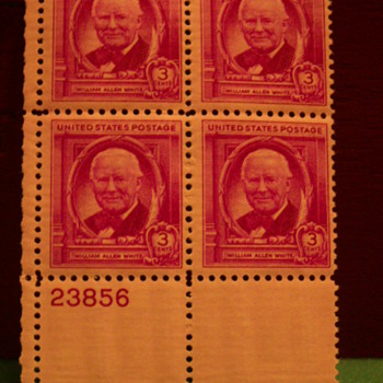 1948 William Allen White 3 Cents Stamps