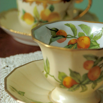 Limoges for Greenleaf & Crosby Co. Teacups and Saucers - China and Dinnerware