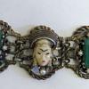 Funky asian lady face bracelet