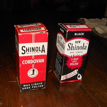 Vintage Shinola Shoe Polish with Original Boxes - Bottles