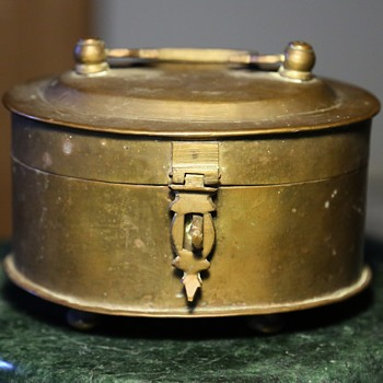 Small Brass Casket - Handwrought from India - Asian