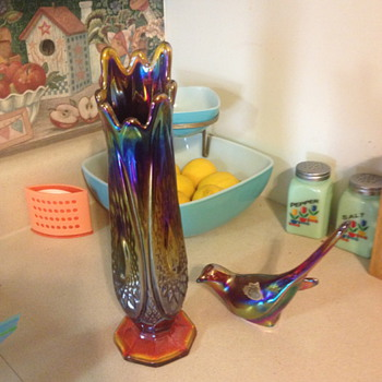 Vase and Bird - Glassware