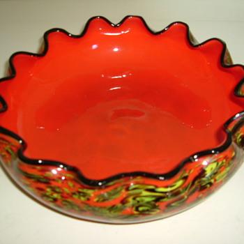 Czech Art Deco Kralik Millefiore Bowl - Art Glass