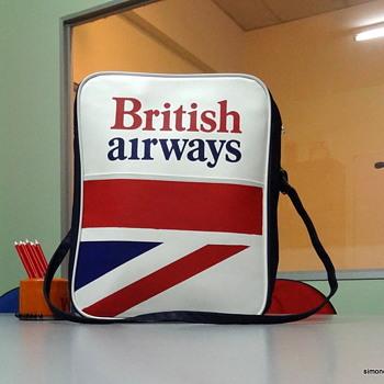 British airways travel bag - Mint. - Advertising