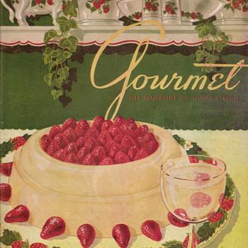 1950 - Gourmet Magazine Cover - Paper