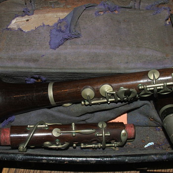 B flat clarinet made by J.B.Albert REALLY old - Musical Instruments