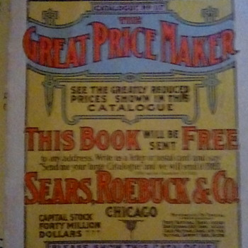 Replica 1908 Sears  Roebuck & Co Catalog printed in 1969. - Advertising