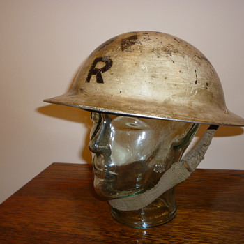 British WWII Rescue Senior Officers steel helmet