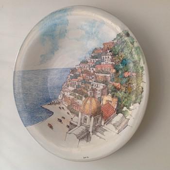 My Romolo Apicella Vietri Charger signed Landi - Pottery