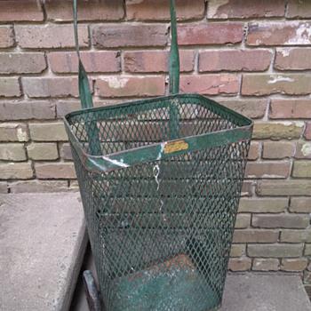 (a-tisket, a-tasket, a-)  vintage metal basket - Furniture